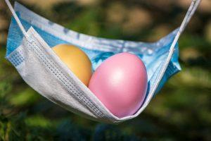 easter, easter eggs, corona